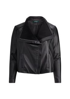 Ralph Lauren Leather Funnelneck Jacket