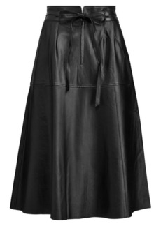 Ralph Lauren Leather Midi Skirt
