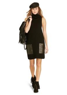 Ralph Lauren Leather-Pocket Sweater Dress
