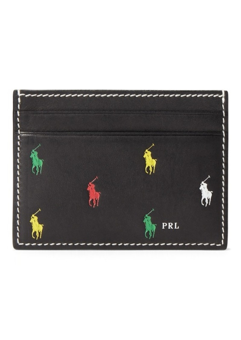 Ralph Lauren Leather Pony Card Case
