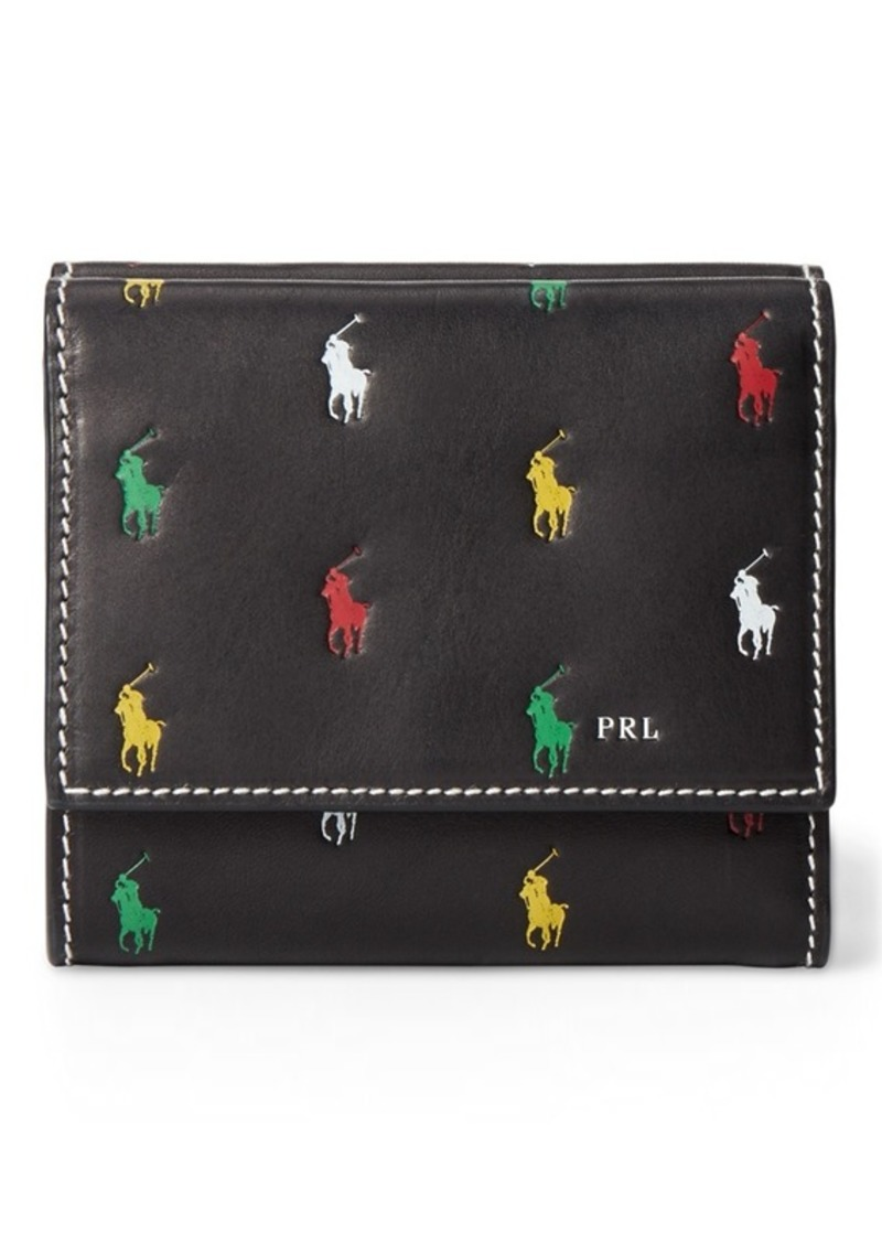 Ralph Lauren Leather Pony Compact Wallet