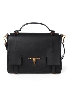 Ralph Lauren Leather Schooly Bag