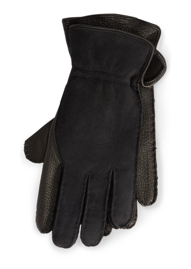 Ralph Lauren Leather-Shearling Gloves