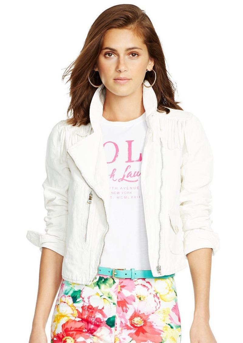 Ralph Lauren Leather-Trim Canvas Jacket