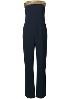 Ralph Lauren leather trim jumpsuit