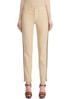 Ralph Lauren Leather Tux-Striped Jeans