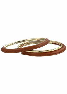 Ralph Lauren Leather Wrapped Bangle Set