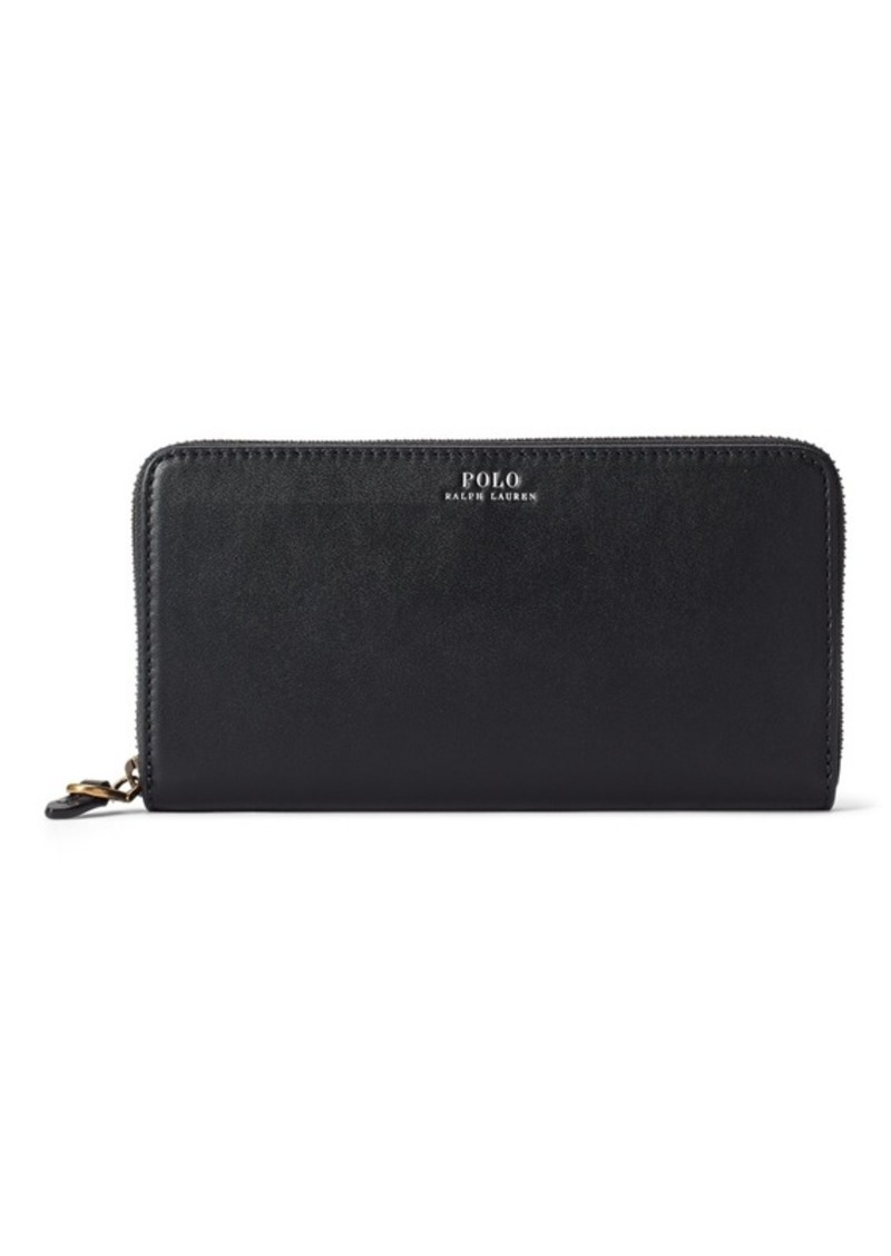 Ralph Lauren Leather Zip-Around Wallet