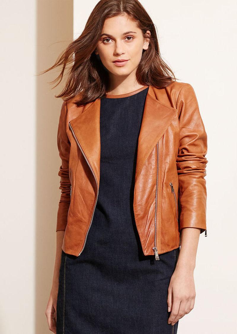 Ralph Lauren Leather Zip-Front Jacket