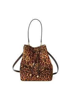 Ralph Lauren Leopard Debby Drawstring Bag