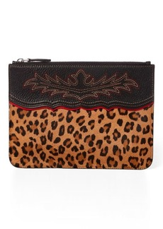 Ralph Lauren Leopard Haircalf Pouch