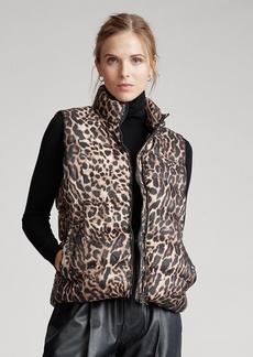Ralph Lauren Leopard-Print Down Vest