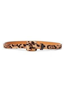 Ralph Lauren Leopard-Print Haircalf Belt