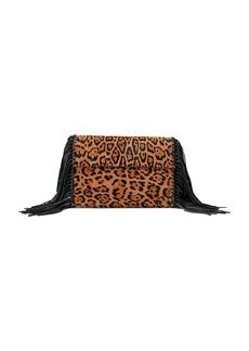 Ralph Lauren Leopard-Print Haircalf Clutch