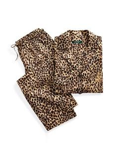 Ralph Lauren Leopard Sateen Pajama Set