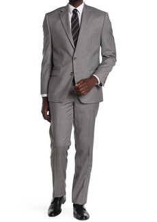 Ralph Lauren Light Grey Sharkskin Two Button Notch Lapel Suit