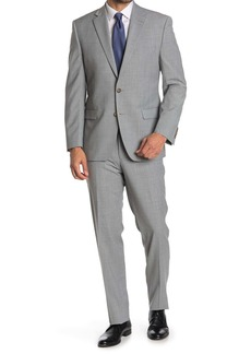 Ralph Lauren Light Grey Sharkskin Wool Blend 2-Piece Suit