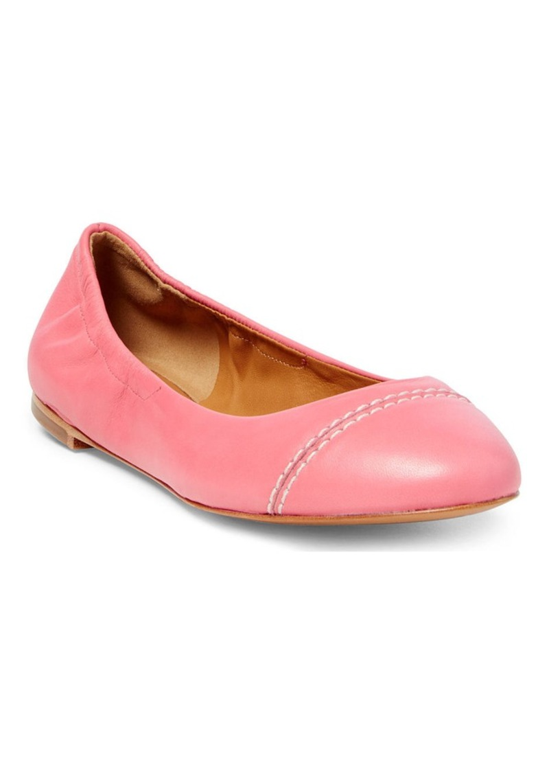Ralph Lauren Lilly Nappa Leather Flat