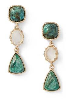 Ralph Lauren Linear Triple-Drop Earrings