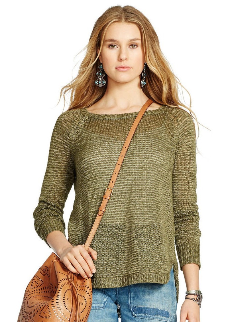 Ralph Lauren Linen Boatneck Sweater