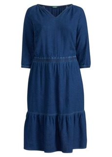 Ralph Lauren Linen-Cotton Dress