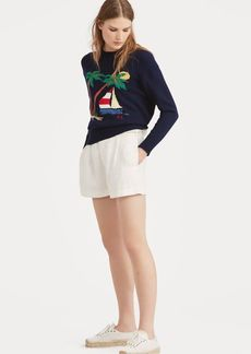Ralph Lauren Linen High-Rise Short