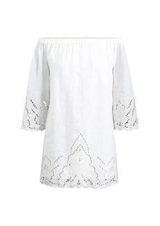 Ralph Lauren Linen Off-the-Shoulder Dress