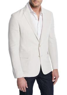 Ralph Lauren Linen-Silk Slub Two-Button Jacket
