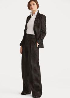 Ralph Lauren Linen-Wool Wide-Leg Pant