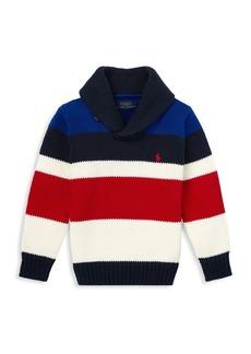Ralph Lauren Little Boy & Boy's Air Spun Striped Sweater