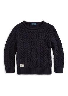 Ralph Lauren Little Boy's & Boy's Aran Cable-Knit Cotton Sweater