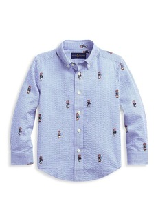 Ralph Lauren Little Boy's & Boy's Boating Bear Cotton Button-Down Shirt