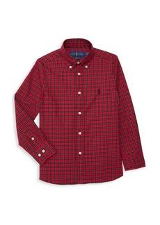 Ralph Lauren Little Boy's & Boy's Broadcloth Plaid Sport Shirt