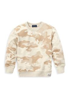 Ralph Lauren Little Boy's & Boy's Camo Knit Crewneck Sweater