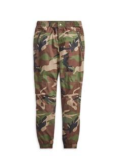 Ralph Lauren Little Boy's & Boy's Camouflage Poplin Joggers
