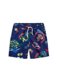 Ralph Lauren Little Boy's & Boy's Captiva Print Swim Trunks