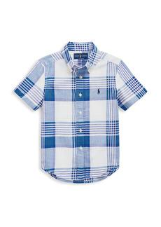 Ralph Lauren Little Boy's & Boy's Check Short-Sleeve Shirt