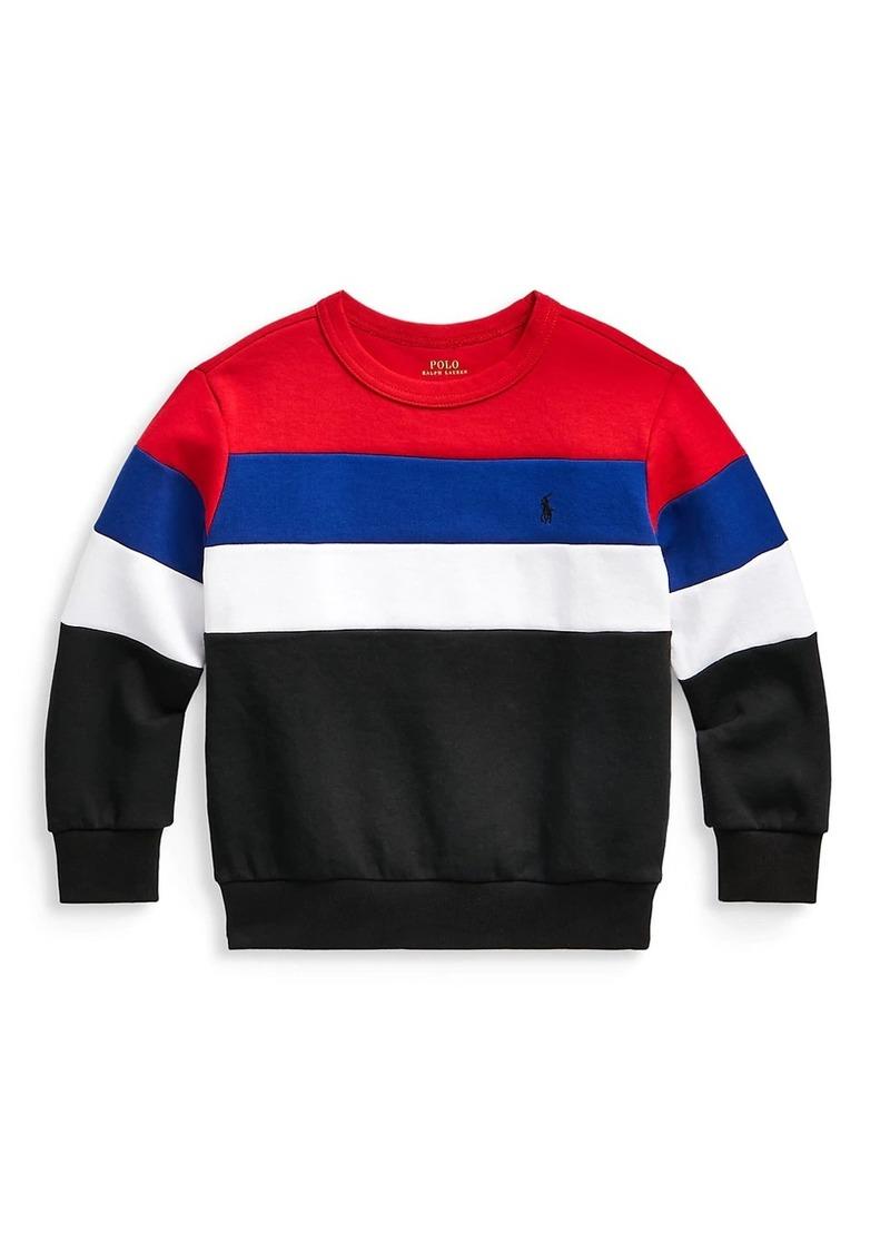 Ralph Lauren Little Boy's & Boy's Colorblock Stripe Sweatshirt