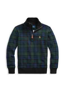 Ralph Lauren Little Boy's & Boy's Combed Cotton Quarter Zip Sweater