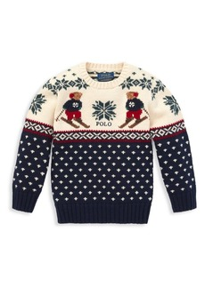 Ralph Lauren Little Boy's & Boy's Cotton & Merino Wool Sweater