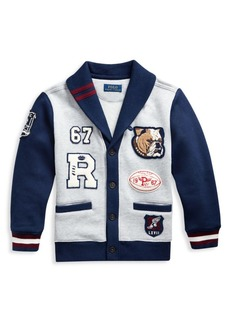 Ralph Lauren Little Boy's & Boy's Cotton Blend Fleece Cardigan