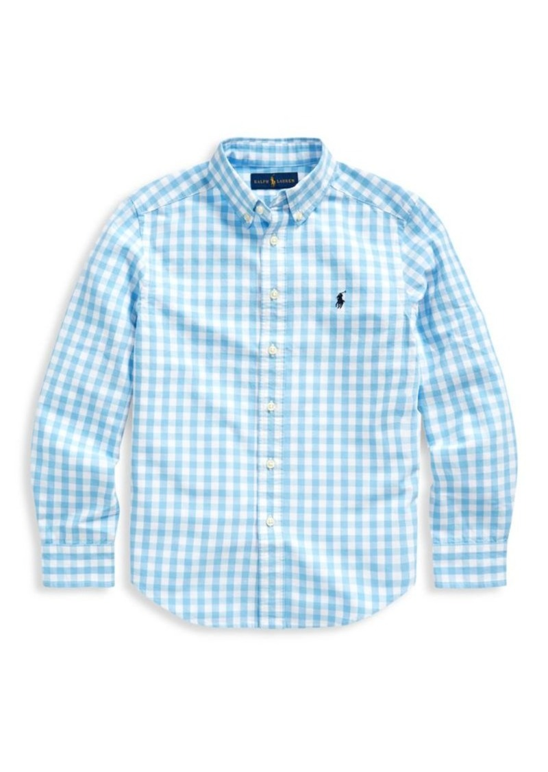 Ralph Lauren Little Boy's & Boy's Cotton-Blend Gingham Button-Down Shirt