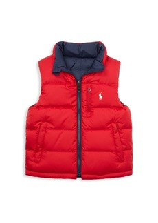 Ralph Lauren Little Boy's & Boy's El Cap Quilted Reversible Vest