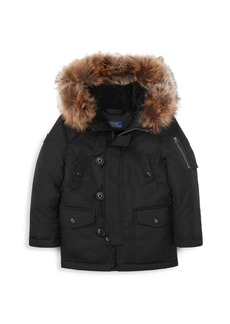Ralph Lauren Little Boy's & Boy's Faux-Fur Trim Down Jacket
