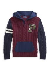 Ralph Lauren Little Boy's & Boy's Fleece Hooded Sweatshirt