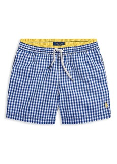 Ralph Lauren Little Boy's & Boy's Gingham Swim Trunks