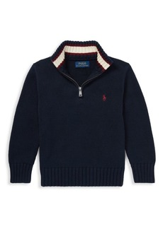 Ralph Lauren Little Boy's & Boy's Half-Zip Cotton Sweater