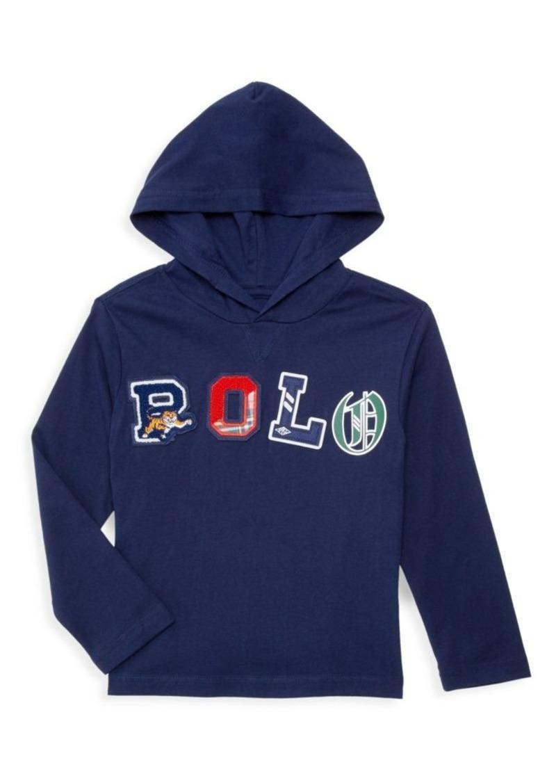 Ralph Lauren Little Boy's & Boy's Logo Patch Hooded T-Shirt