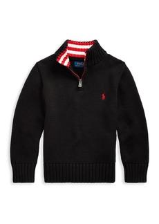 Ralph Lauren Little Boy's & Boy's Logo-Embroidered Knit Sweater