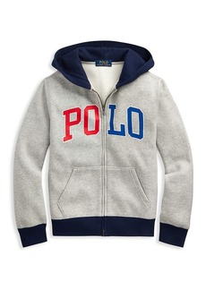 Ralph Lauren Little Boy's & Boy's Logo Fleece Zip Sweater